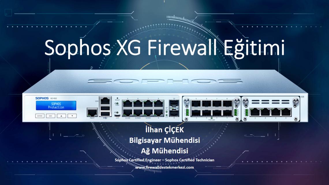 Türkçe Sophos XG Firewall Eğitimi yayında