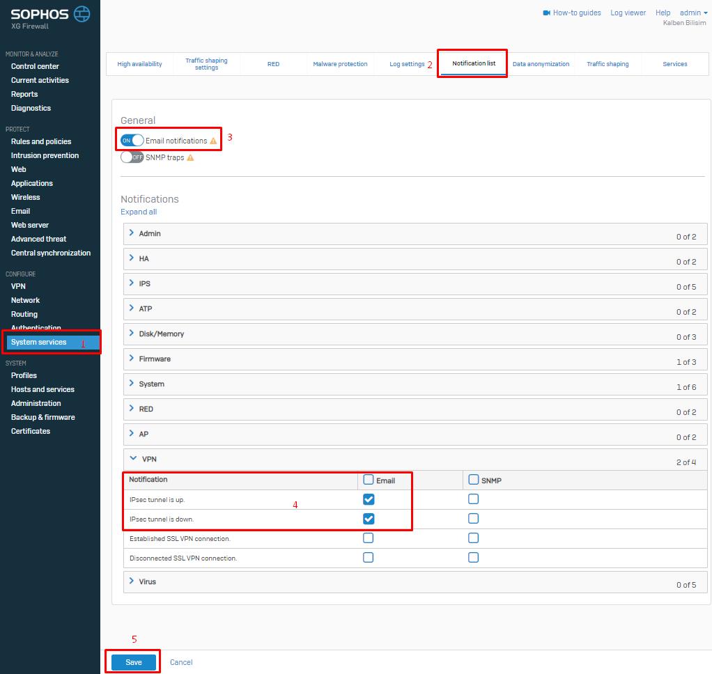 IPsec VPN Up/Down Alarmı Oluşturma