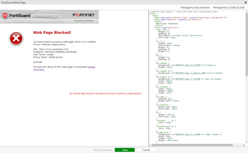 FortiGuard Block Page