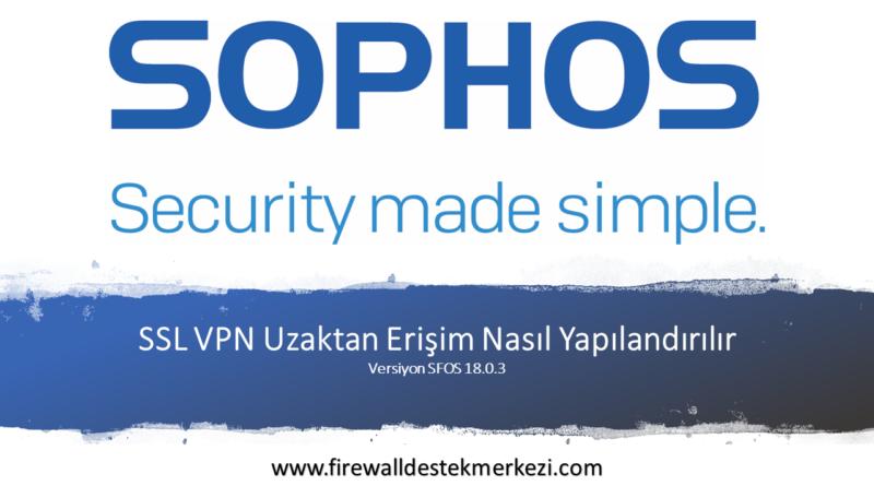 Sophos XG Firewall SSL VPN Uzaktan Erişim Nasıl Yapılandırılır
