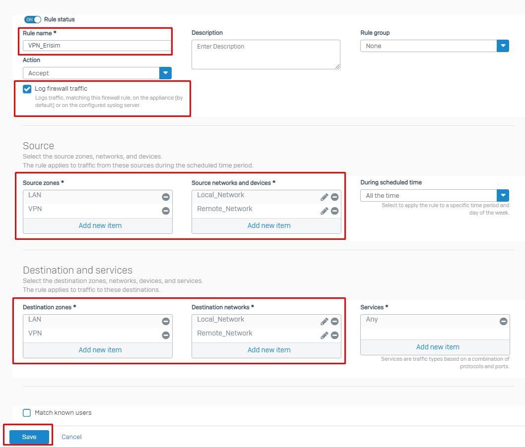 Sophos ile Sonicwall Arasında Site to Site VPN Kurulumu
