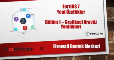 FortiOS7 Yeni Özellikler Bölüm 1 Grafiksel Arayüz Yenilikleri
